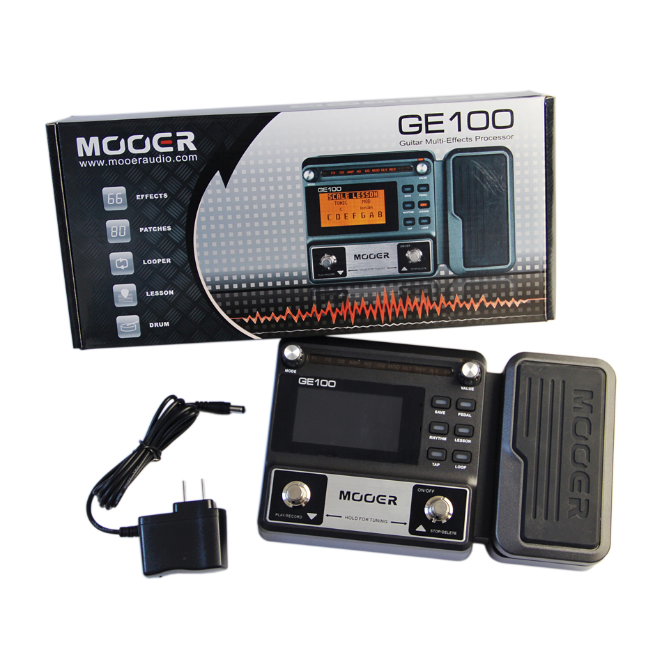 Mooer GE100 Multi Effects Processor Guitar Effects Pedal with 8 Effect Modules 66 Effect Types Guitar