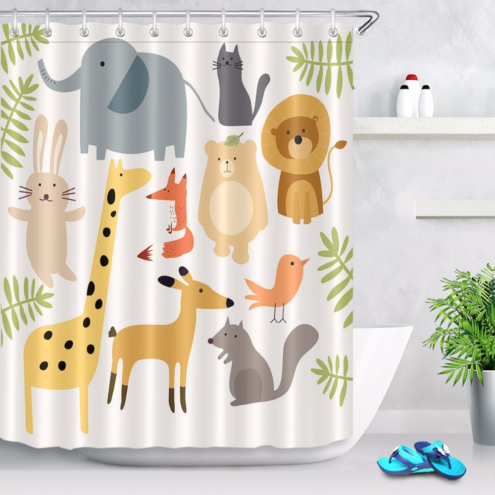 Shower Rooms & Accessories Bath Screens 2019 Latest Design 150x180cm Waterproof Shower Curtain Creative Funny Uni-angle Animal And Cat Pattern Polyester Fabric With 12 Hooks For Bathroom 100% Guarantee
