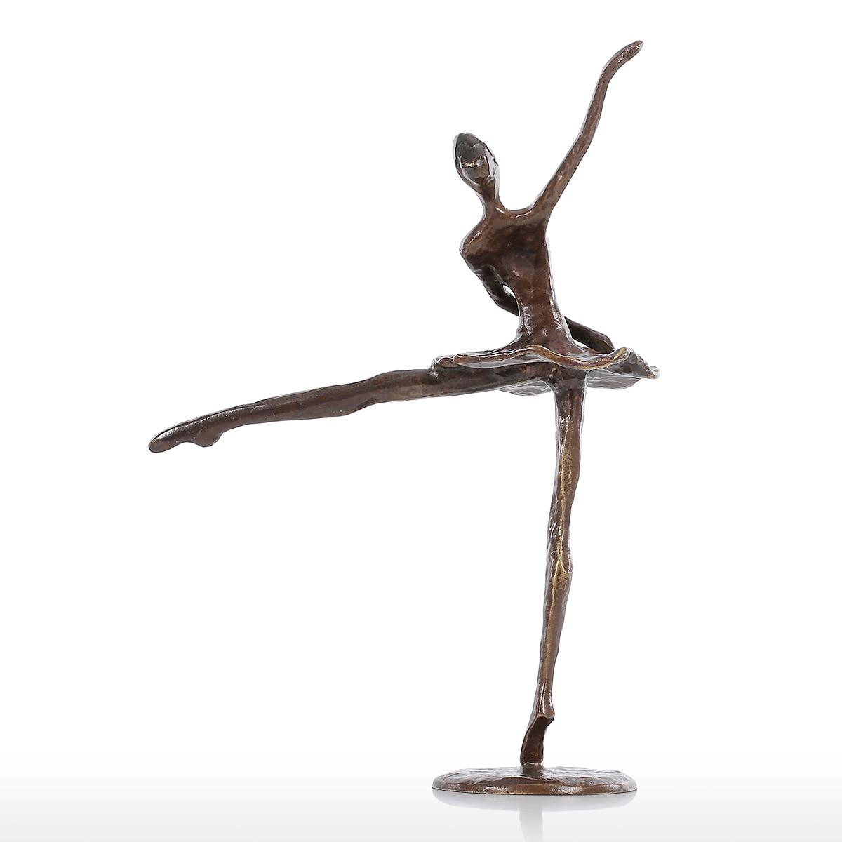 Tooarts Statuette Ballet Modern Dance Bronze Statue Metal