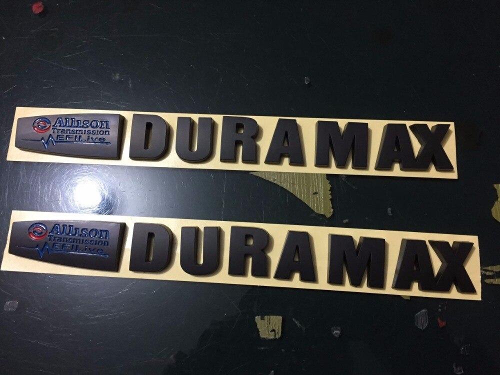 2 New Black & Blue 15-18 Duramax Allison EFI LIVE 2500HD 3500HD Truck Emblems