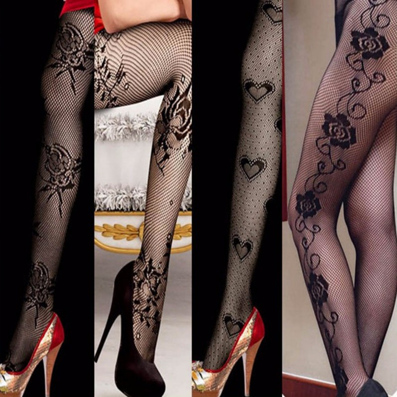 Plus Size Sexy Women Thigh High Appeal To Fix The Leg Show Thin Fishnet Stockings Yeva Transparent Lace Top 1pcs