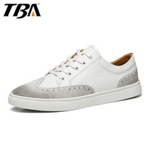 TBA Men's Sports Skateboarding shoes White/black Genuine Leather Wear Non-slip Outdoor Sport Shoes Traning Sneakers TBA5837