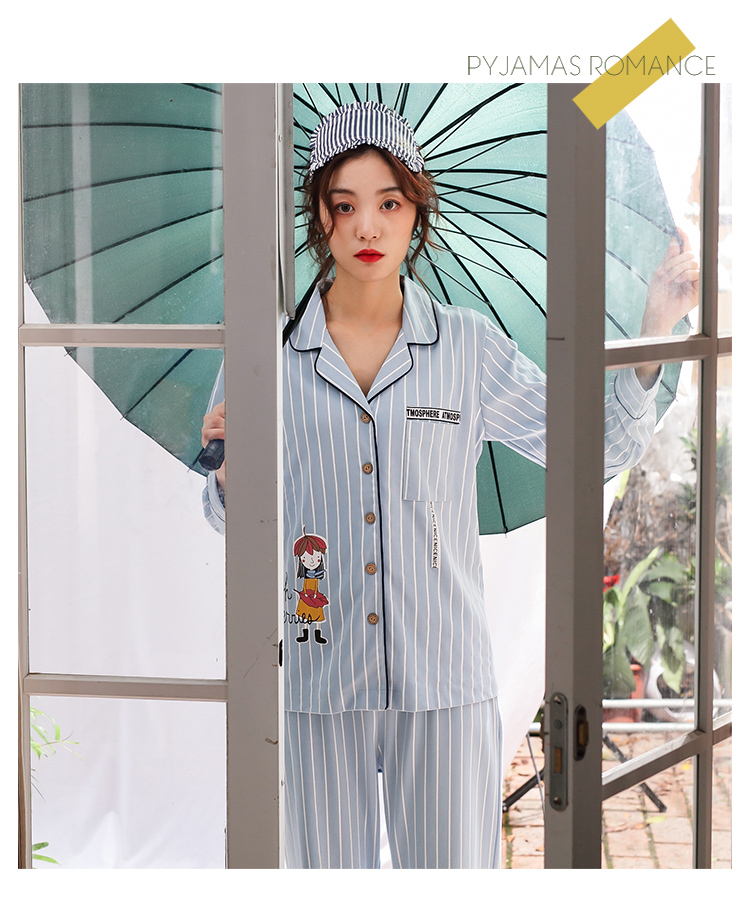 WEIXIANG Women Winter Pajama Set Soft Printing pijama Home Pyjamas ... 6dcada8f2