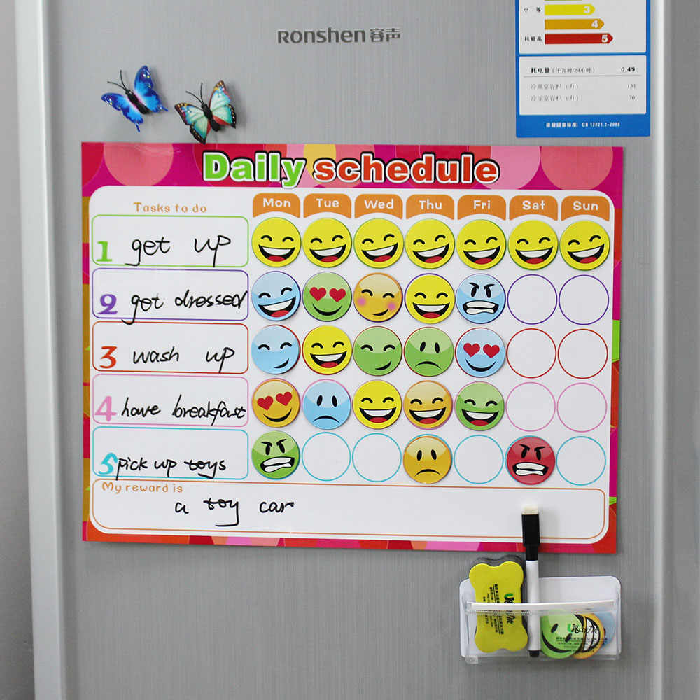 Dry Erase Magnet Weekly Planner Creative To Do List Kids Schedule Magnetic Reward Chart 40
