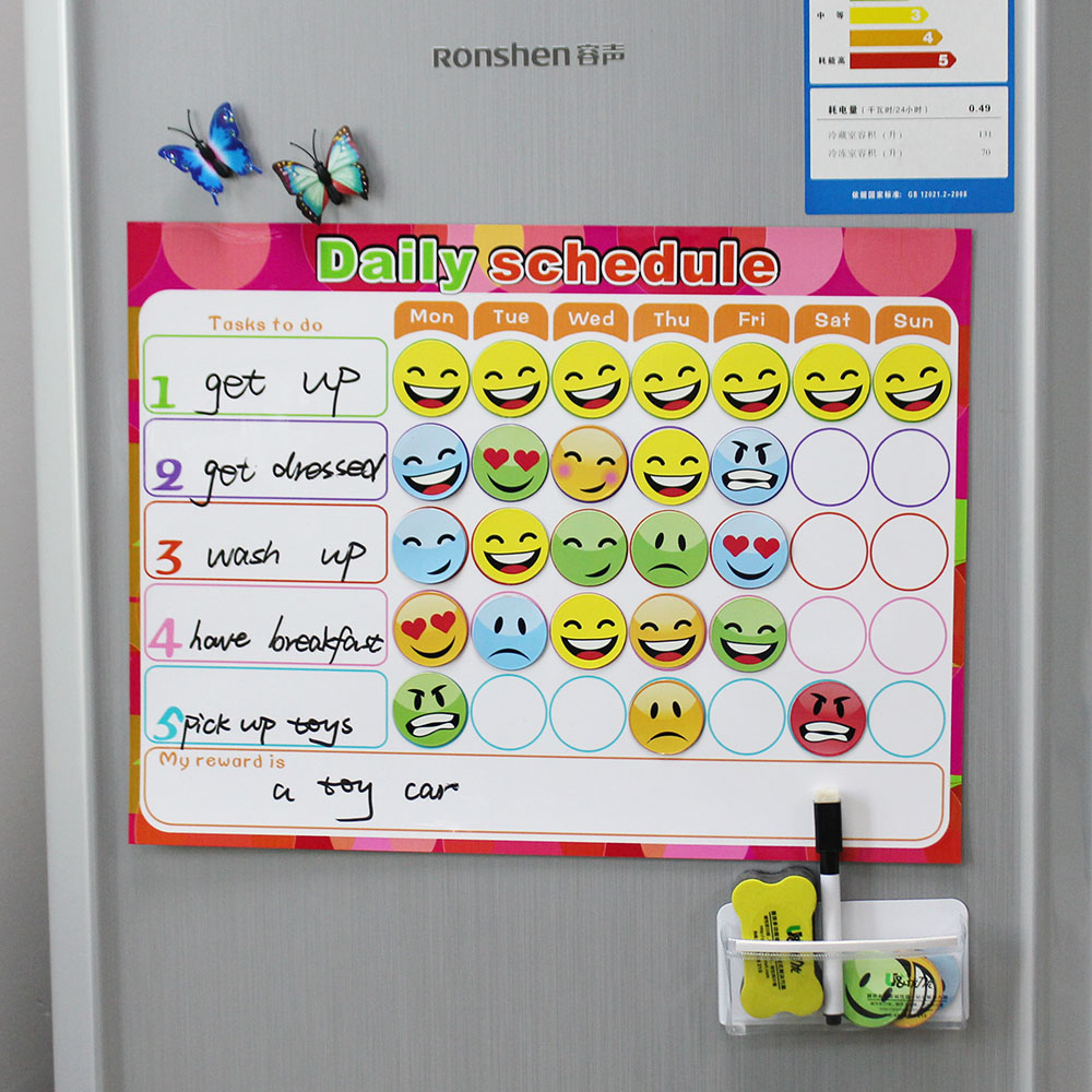 Trocken Abwischbaren Magnet Wochenplaner Kreative To do liste Kinder ...