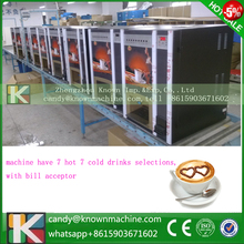 coffee machine with paper money acceptor with 7 drinks
