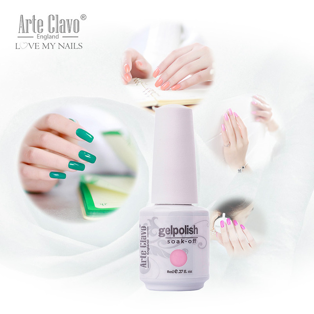 90 Colors Best Price Arte Clavo 8ml Nail Art Paint UV Gel Soak Off ...