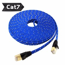 New Arrival Durable50cm1M1.5m 3M 5m10M 15M 20M 30m CAT7E Ethernet Internet Network Patch LAN Flat Cable Cord For Computer Laptop
