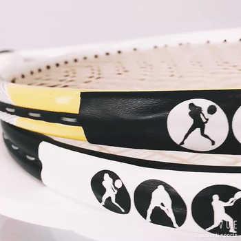 3 リールテニスラケットフレームプロテクター PU ステッカーラケットテープテニス摩擦傷を防止するためステッカー専用破損