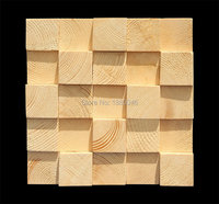 Hot Selling 300x300mm Square Wood Mosaic Wall Panels 3D decorative wall art for interior 1box 11pcs 30x30cm sheet