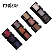 MEIS Brand eye shadow palette makeup Professional make up Eyeshadow Single Color Palette Beauty glitter MS 6101