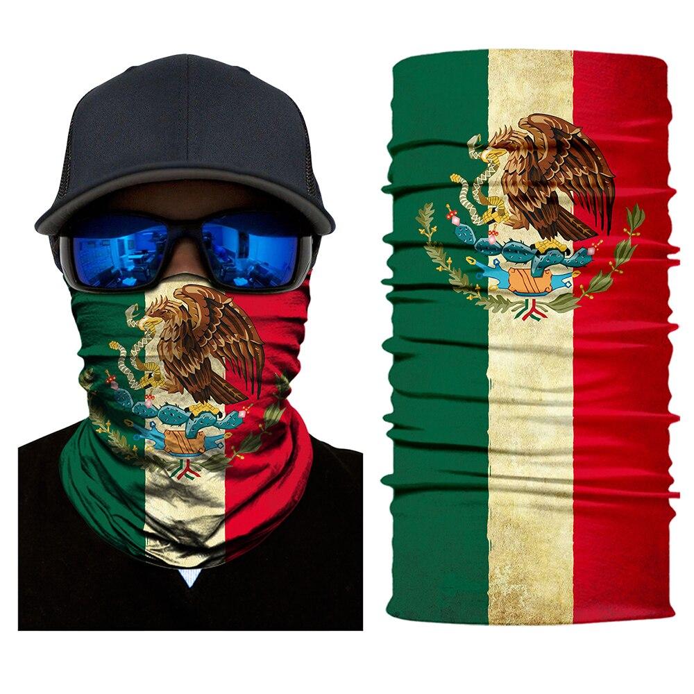BJMOTO Erstaunliche Land Flagge Gesicht Schild Kopf Gesicht Maske Nahtlos Winddicht Anti-Uv Multi Verschleiß Rohr Motorrad Rider Biker Schal