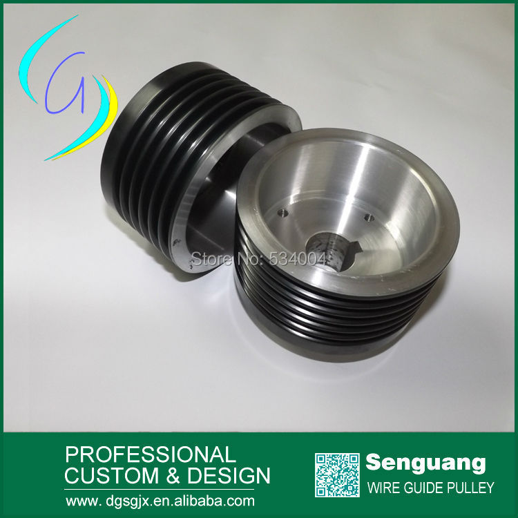 ceramic coated grooved wire distributing pulley for extruder machine pulley chrome oxide plated steel wire guide pulley for wire industry