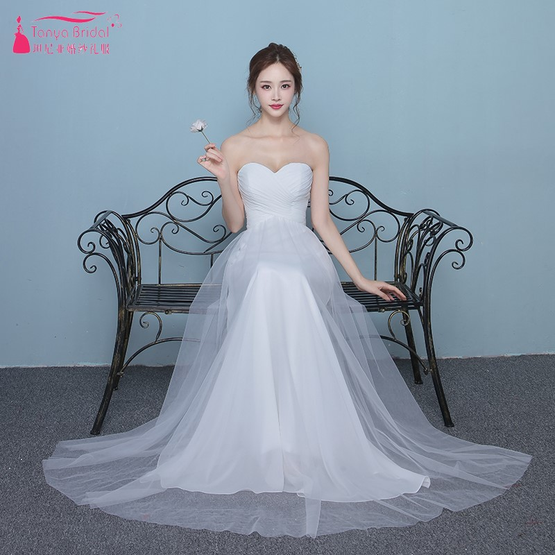 63062e7684a Simple Style A Line White Chiffon Bridesmaid Dresses Lace Up Back Long  Formal Wedding Guest Party Dress Gown DQG503