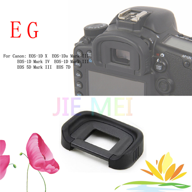 100 PCS EG Rubber Eye Cup Eyepiece Eyecup for Canon EOS 1DS mark 3 ...