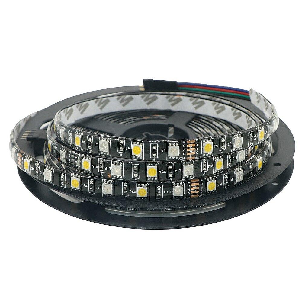 DC12V 5050 LED Strip Waterproof RGBW Flexible LED Light 60LED/m Waterproof IP20/IP65 RGB+White/+Warm White Tape for decoration