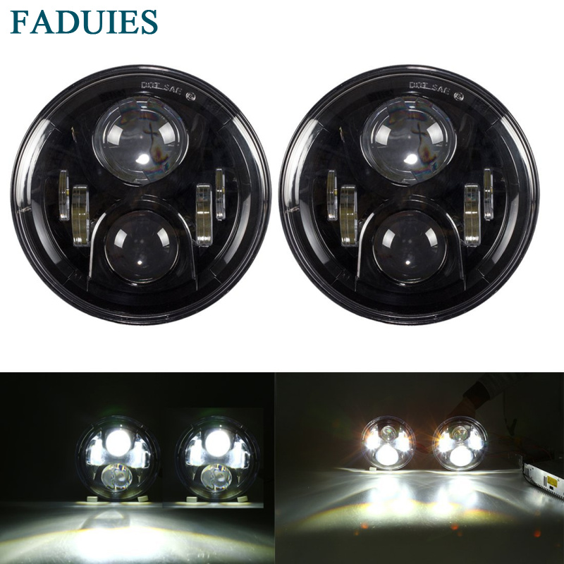 FADUIES 7 LED Headlights For Jeep Wrangler JK TJ LJ For Hummer H1&H2 Driving Lamp Projector Headlight Assembly