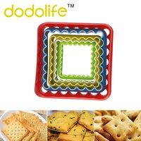 Dodolife Backform Quadratische Form 3D Keks Tasse Silikon Muffin Cupcake Backen Dekorieren Werkzeuge Für Backformen