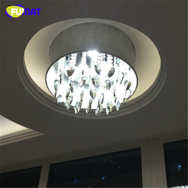 FUMAT Smoke Grey Crystal Chandelier Modern Suspension Light For Living Room Bed Room Gray Shade Light LED K9 Crystal Chandeliers