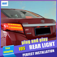 Car Styling LED Tail Lamp for Toyota Vois Taillight assembly 2014 New Vois Rear Light DRL+Turn Signal+Brake with hid kit 2pcs.