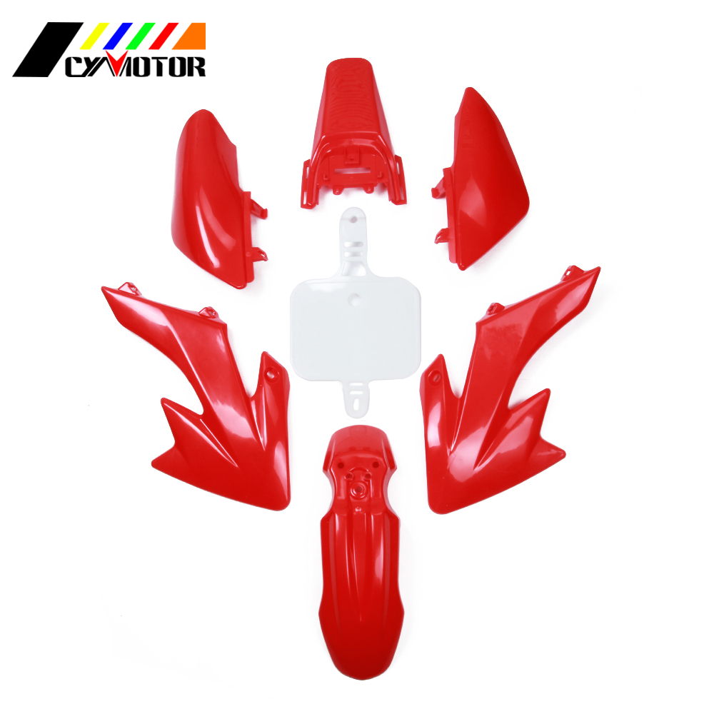 Motocycle Plastic Body Kit Fairing Front Rear Fender Mudguard For HONDA XR50 CRF50 50CC Supermoto Motocross Enduro plastic motorcycle body kit for yamaha yz85 2002 2014 motocross dirtbike supermoto enduro page 1 page 2