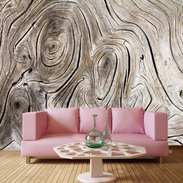 Vintage Wood Texture 3D Wallpapers Papel De Parede Personality Moisture Dining Room Living Sofa Wall