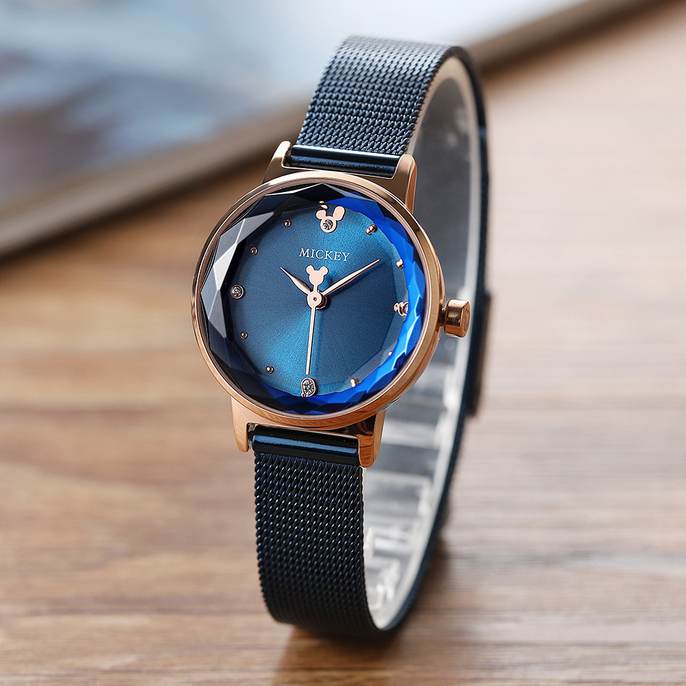 women clocks stainless steel quartz ladies watch Disney brand Mickey mouse woman watches waterproof wristwatch Citizen movement woman bracelet watches rose gold disney brand women clocks stainless steel mickey mouse luxury diamond 30m waterproof wristwatch