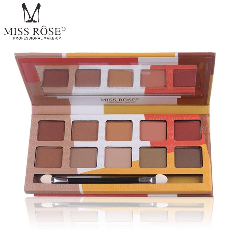 Miss Rose 10 Colors Women Eye Shadow Palette Matte Pearl Eyeshadows Makeup Palette Beauty Accessories Eye Shadow Palette