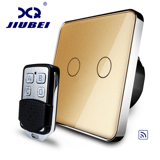 Free Shipping, Jiubei EU Standard,Grey Crystal Glass Panel, EU standard,Wall Light Remote Switch, C702R-13&RMT01 wall light free shipping remote control touch switch us standard remote switch gold crystal glass panel led 50hz 60hz