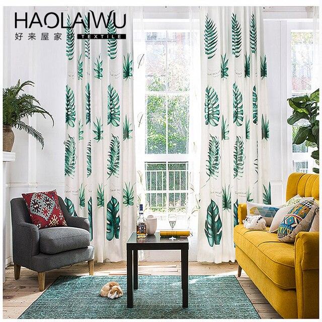 Livraison Gratuite Feuilles Vertes Tropicales Moderne Style Europeen