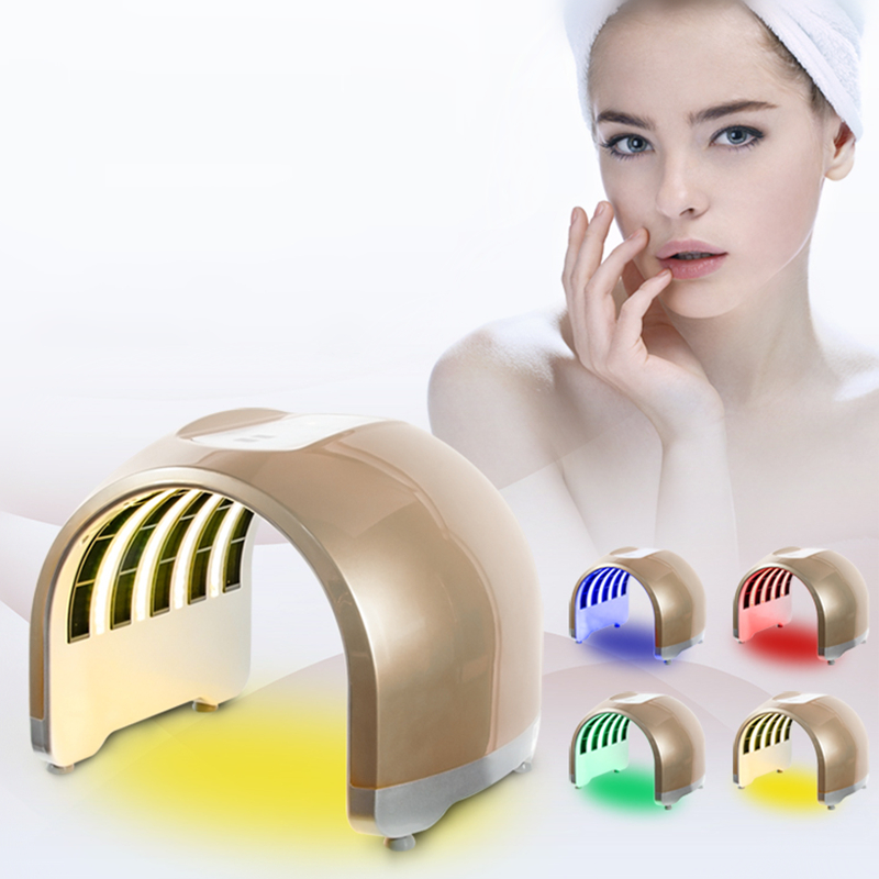 Upgraded Version 4 Colors LED Photon Facial Neck Mask PDT Photodynamic Microcurrent Skin Care Acne Treatment For Beauty Salon
