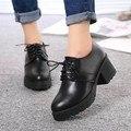 Fashion 2016 Women's Oxfords Lace Up Platform Oxfords Shoes for Women Casual Ladies Flats Shoes