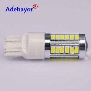 1x Auto Car T20 W21W 7443 5630 33SMD 5730 LED Backup Turn Signal Brake Tail Reverse Lamp Light Bulb Xenon white parking Adebayor