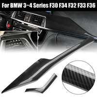 2PCS Carbon Fiber Style Center Control Panel Trim For BMW F30 F34 F32 F33 F36