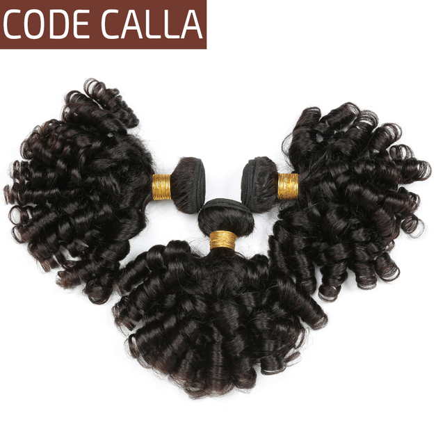 Code Calla Peruvian 100% Unprocessed Raw Virgin Human Hair Weave Extensions 1/3/4 Bundles Loose Bouncy Curly No Shedding Tangle