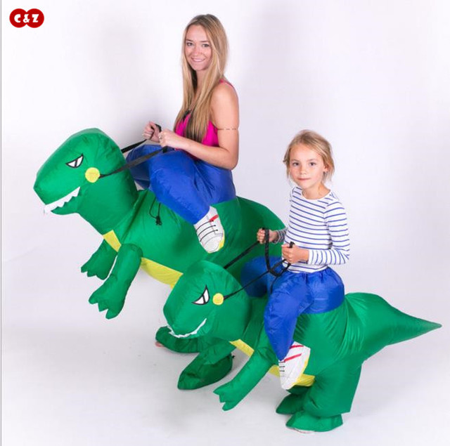 Outdoor air-filled Tyrannosaurus dinosaur inflatable clothes rider costume clothing PVC inflatable material children and adult