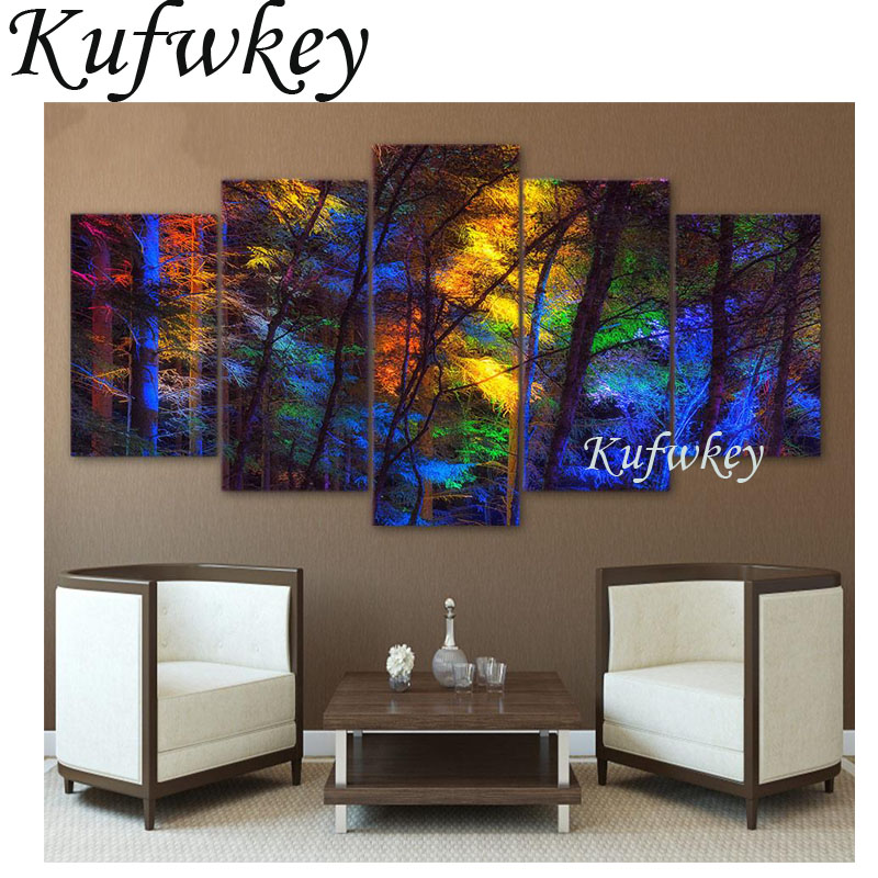 Diy 5d Diamond Painting Multi Figure trees Square Diamonds mosaic Full Diamond Embroidery Scenic Home Decor 3D Wall Art 5pcs/SetDiy 5d Diamond Painting Multi Figure trees Square Diamonds mosaic Full Diamond Embroidery Scenic Home Decor 3D Wall Art 5pcs/Set