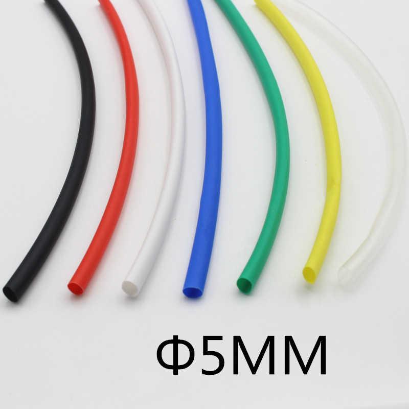 (1 metro/lote) 5MM de Diâmetro Interno cor Branca Heat Shrinkable Tubo/Tubulação Do Psiquiatra de Calor isolamento invólucro