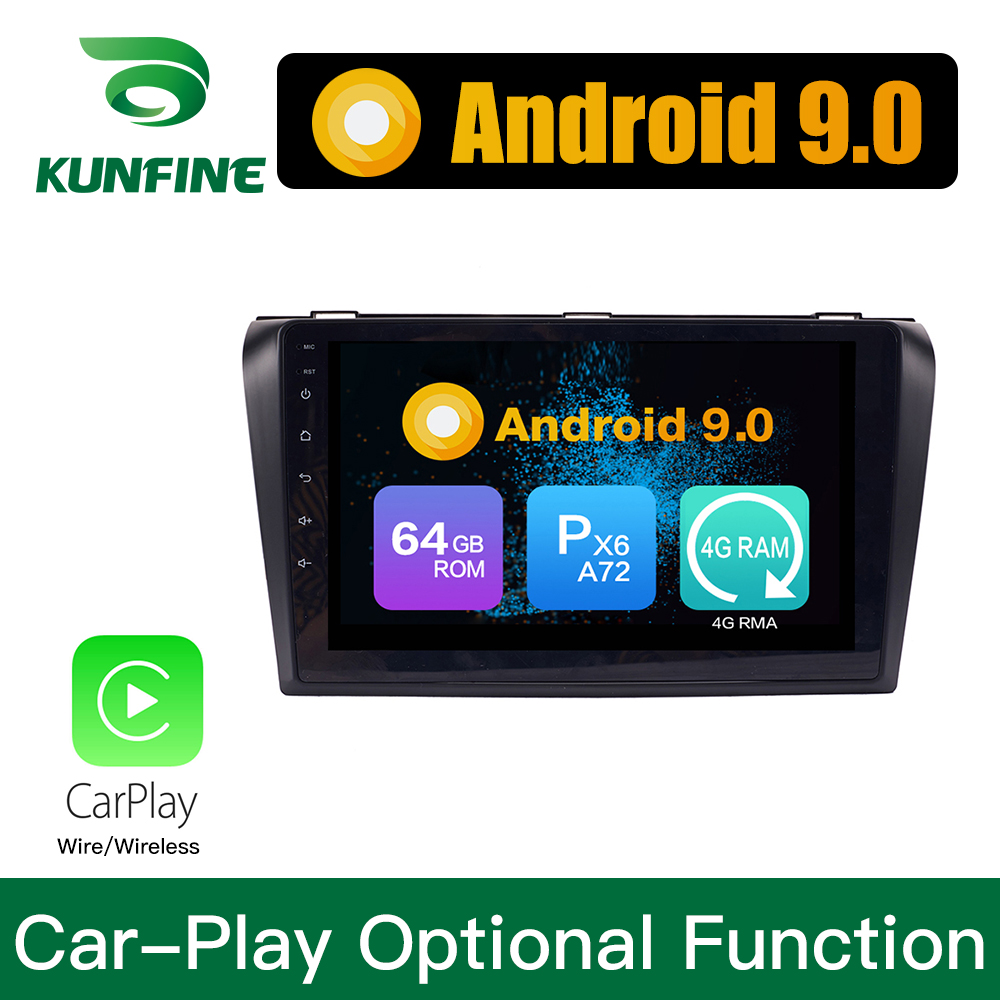Android 9.0 Ram 4G Rom 64G PX6 Cortex A72 Car DVD GPS <font><b>Multimedia</b></font> Player Car Stereo For <font><b>Mazda</b></font> <font><b>3</b></font> 2006-2013 Radio Headunit image