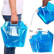 5L/10L Outdoor Foldable Folding Collapsible Drinking Water Bag Car Water Carrier Container for Outdoor Camping Hiking Picnic BBQ naturehike factory store outdoor collapsible water container folding bucket storage pe food grade camping foldable water bag