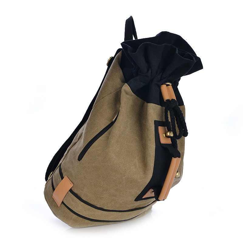 ac4406314b Backpack Small Canvas Bag Men Travel Simple Backpack Fashion Designer  Softback Classic Bucket Shoulder Backpack Men