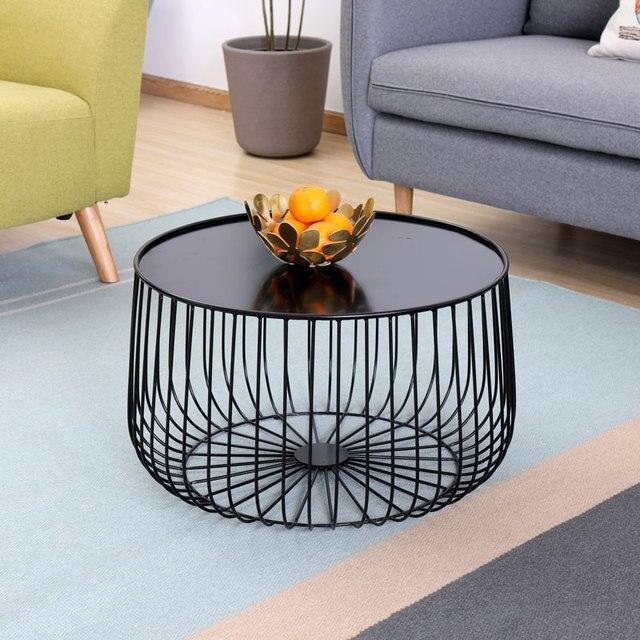 Minimalistischen Modernen Design Kürbis Schwarz Runde Eisen Kleinen  Teetisch Wohnzimmer Möbel Metall Kaffee Beistelltisch