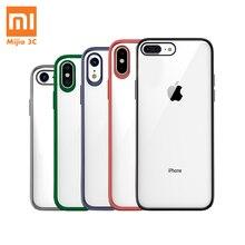 מקורי Xiaomi טלפון מקרה עבור iPhone X XR XS מקסימום 8 7 בתוספת שקוף TPU מחשב מעטפת תיק עמיד הלם צבעוני מסגרת חזרה כיסוי