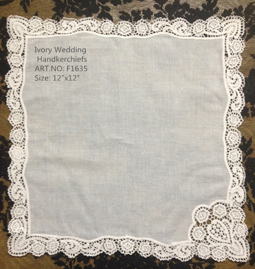 Set Of 12 Fashion Handkerchiefs Cotton Wedding Bridal Lace Hankies Vintage Embroidered Hanky 12x12-inch