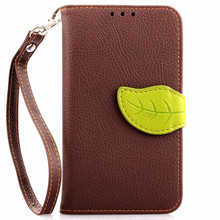 Elegant Leaf Design PU leather Wallet Case For Nokia Lumia 630 N630 Wallet Card Holder stand Flip Mobile Phone Bags cover