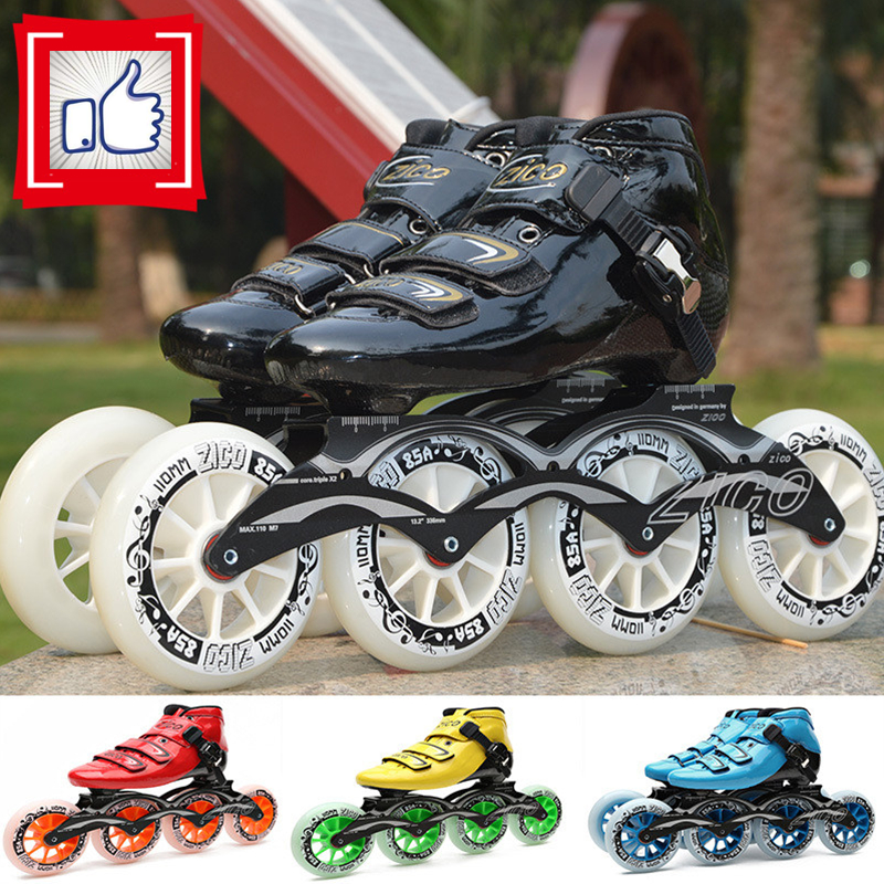 2-Layers Carbon Fiber Inline Speed Skates Adults Kids Alphalt Street Skating Shoes for MPC for CITYRUN Korea Japan Racing <font><b>Roller</b></font>