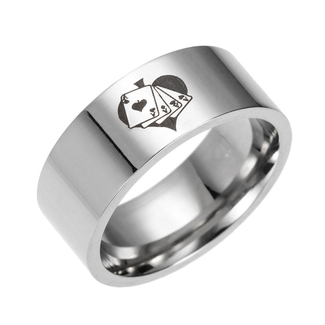 Magician stainless steel ring poker rings 316 Titanium Rings fashion men and wom