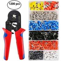 1200pcs/Box Wire Terminal Crimp Connector Insulated Uninsulated Wire End Ferrules --M25