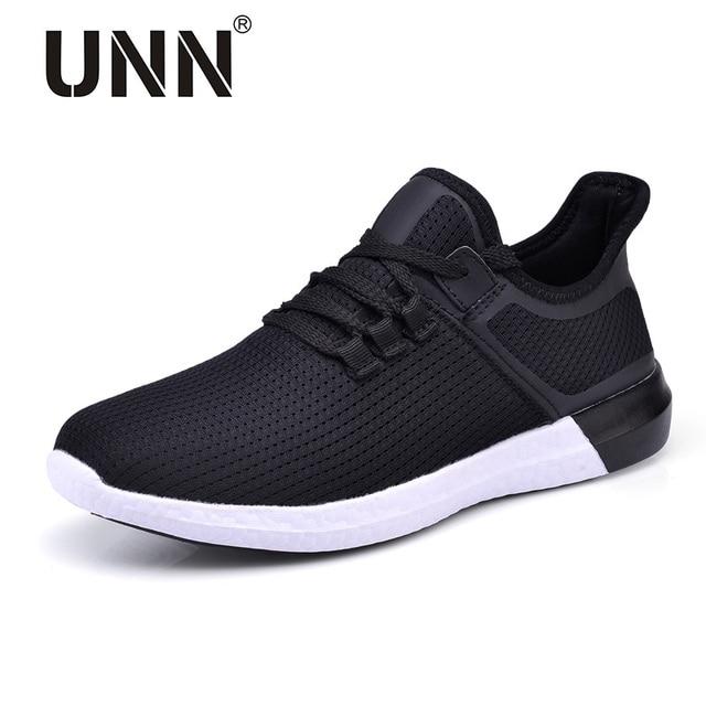 УНН унисекс кроссовки мужские новый стиль воздухопроницаемой сеткой кроссовки мужские черные легкие спортивные женские туфли на выход Purole размер EU 35-44