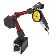 Flexible Strong Magnetic Gauge Stand Base Holder + Lever Dial Test Indicator Gauge Flexible Magnetic Base mini universal adjustable gauge stand holder magnetic base holder digital level dial test indicator